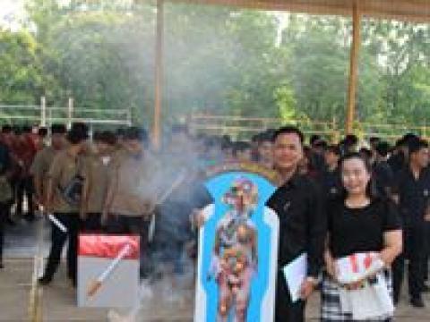 จัดกิจกรรมเผาบุหรี่ เนื่องในวันงดสูบบุหรี่โลก 2562