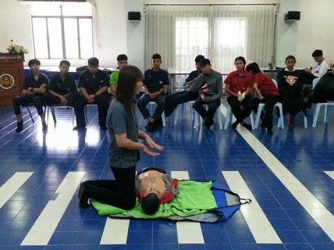 การอบรมดับเพลิงและการฝึกการปฐมพยาบาล ครั้งที่ 5