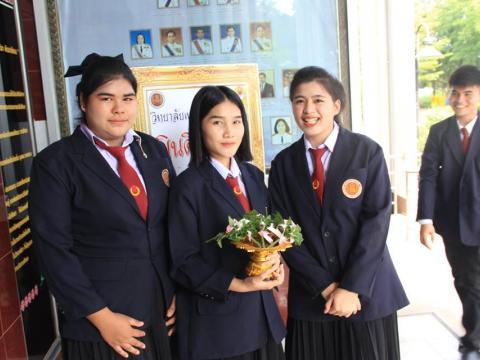 อำนวยการวิทยาลัยเทคนิคบูรพาปราจีน พร้อมด้วยคณะผู้บริหาร คณะครูแล